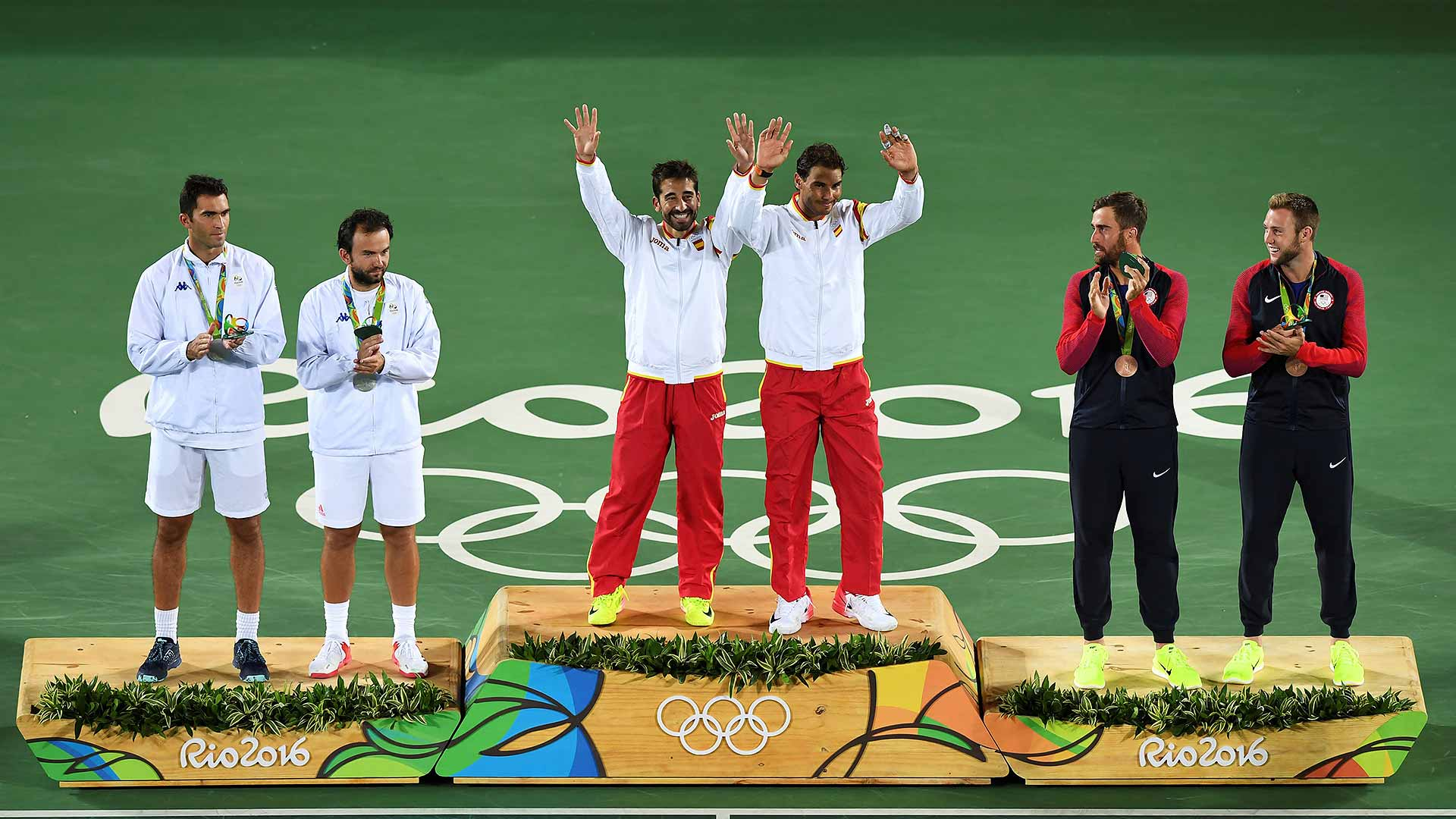 Spain's Marc Lopez and Rafael Nadal win gold in Rio.