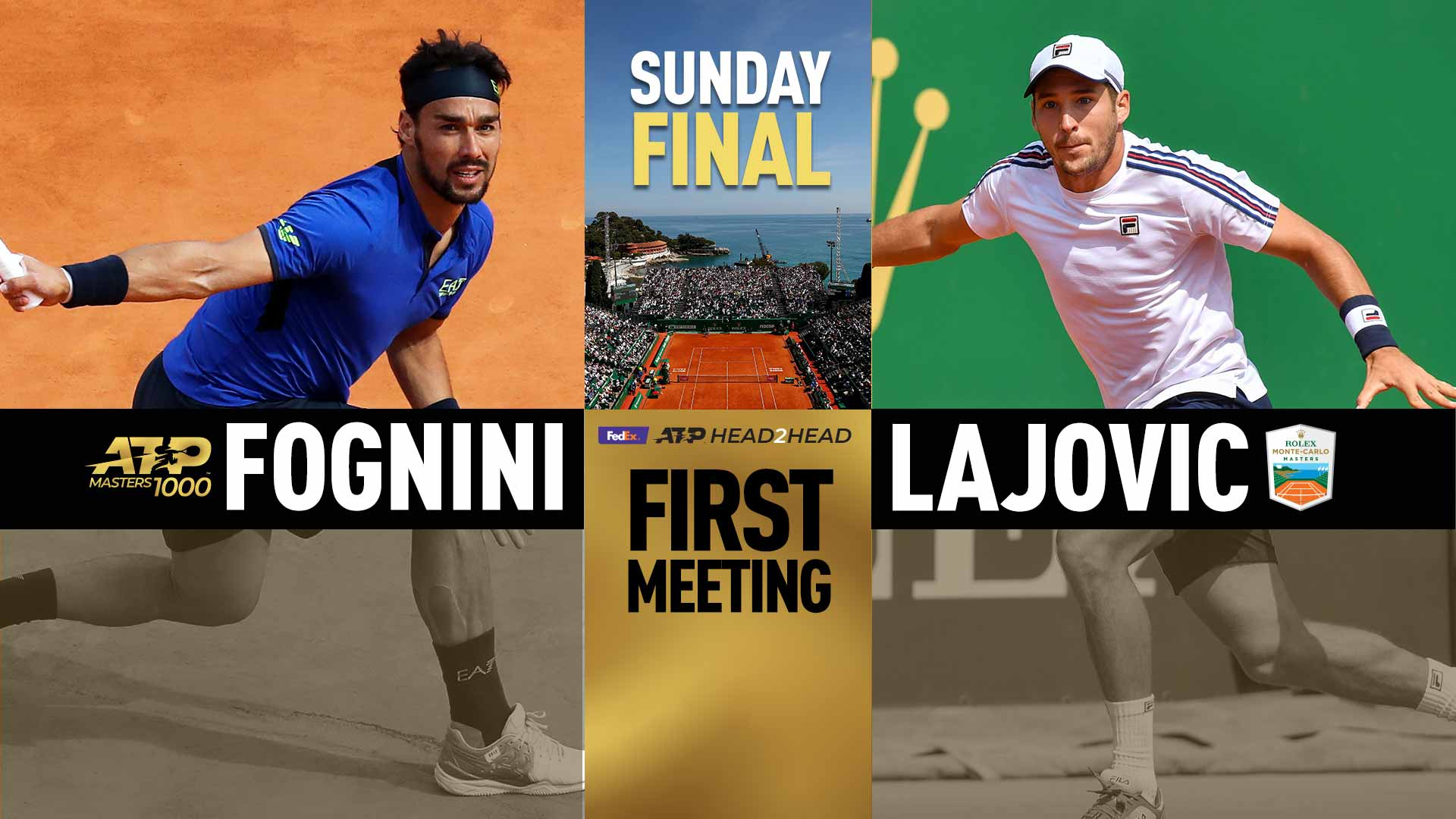 Fognini plays Lajovic in the 2019 Rolex Monte-Carlo Masters