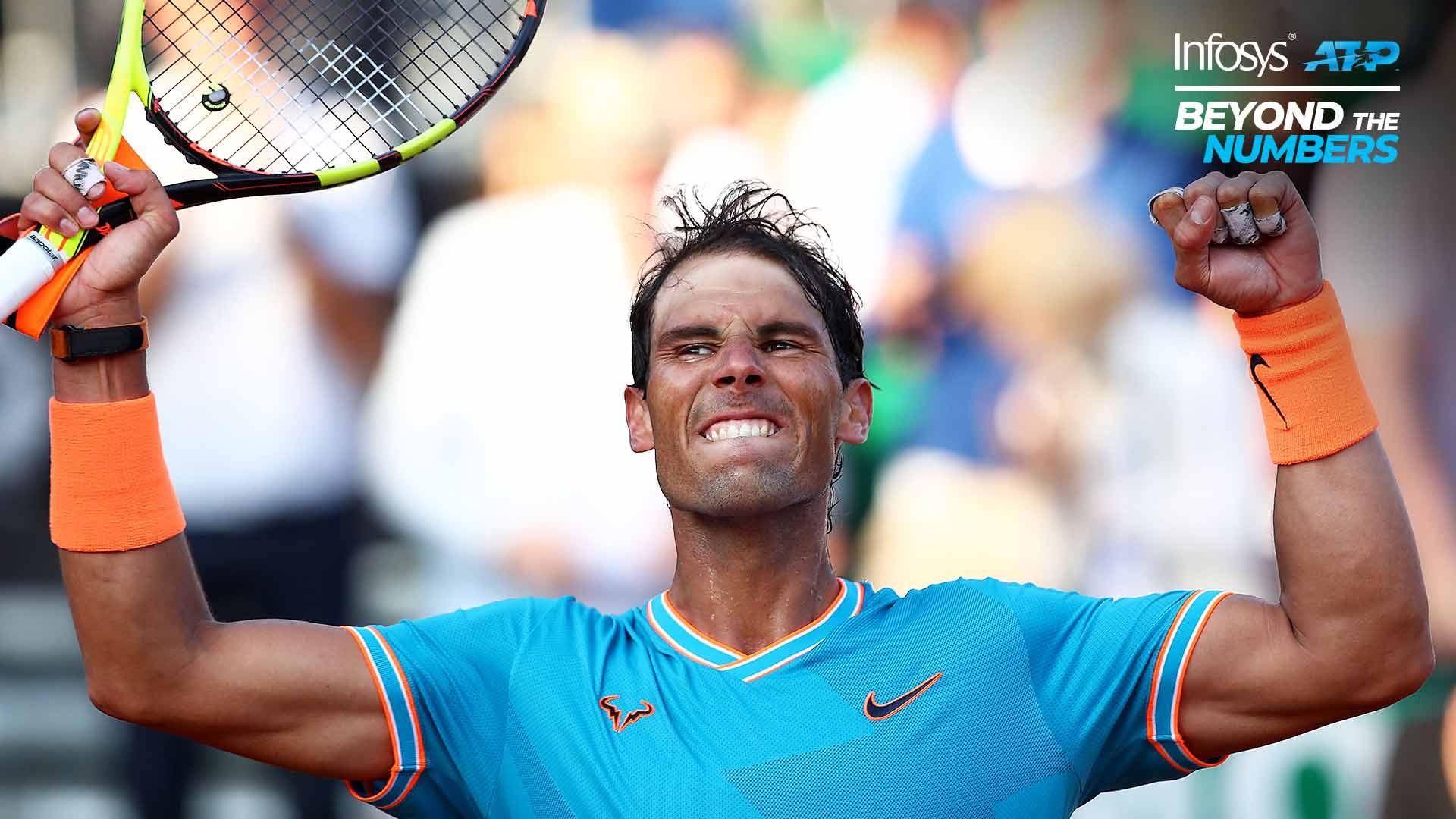 Rafael Nadal wins more than 50 per cent of his points on the ATP Tour