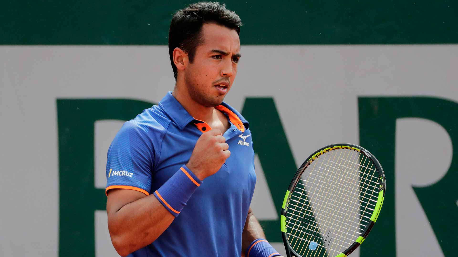 Hugo Dellien wins on Sunday at Roland Garros