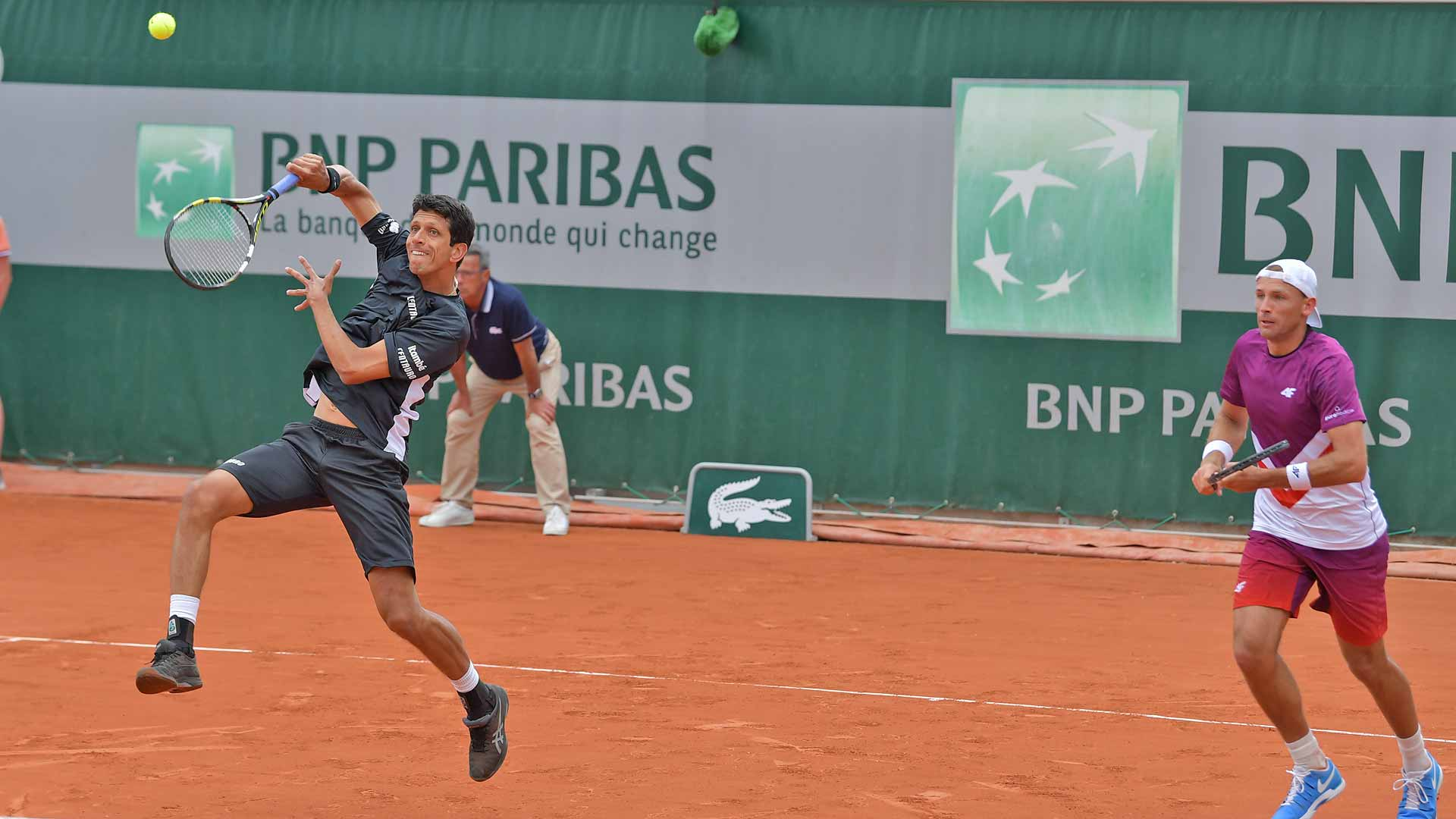 Marcelo Melo & Lukasz Kubot in first-round action at Roland Garros 2019 | French Open