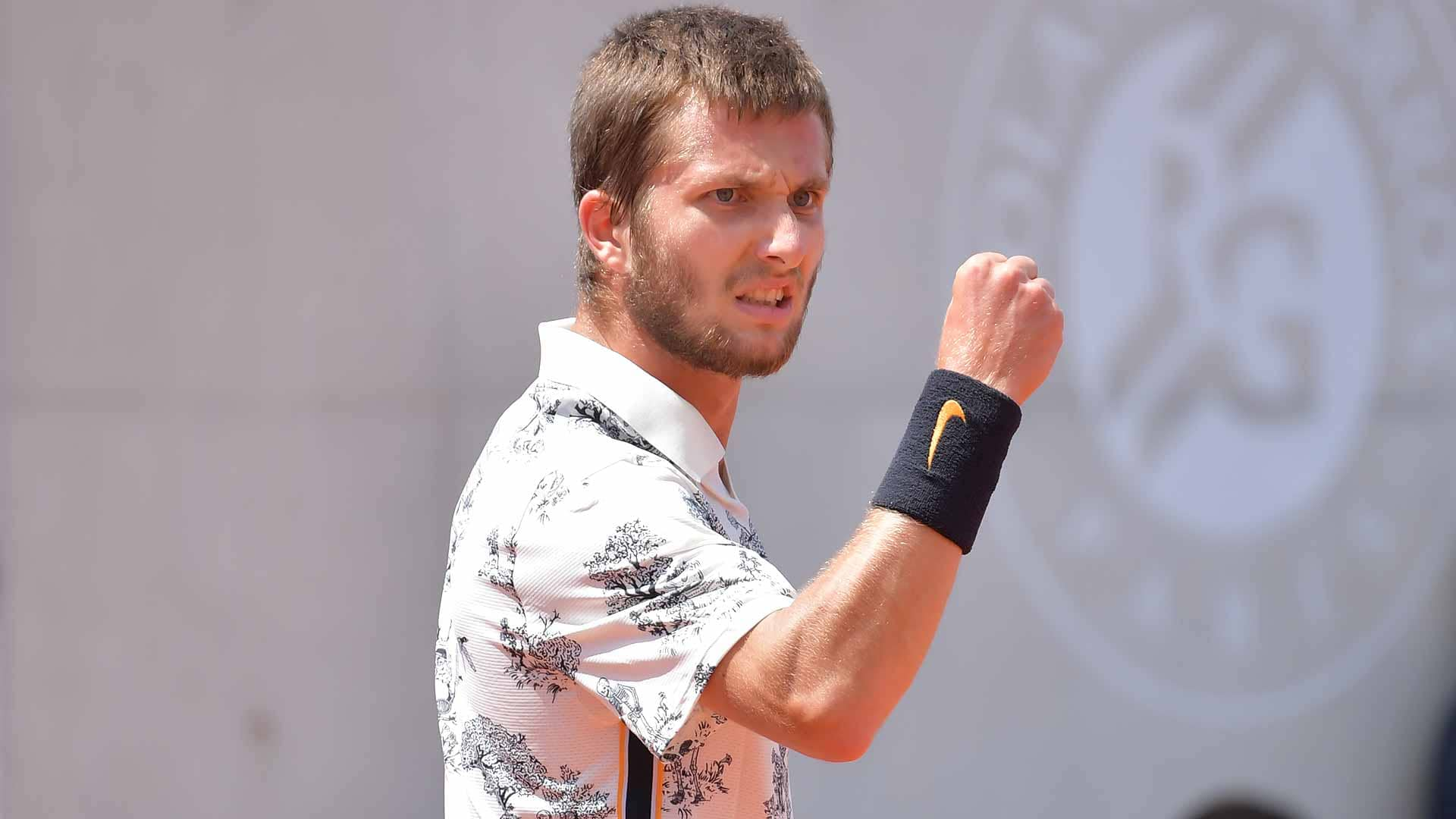 France's Corentin Moutet is playing at Roland Garros, his home Grand Slam