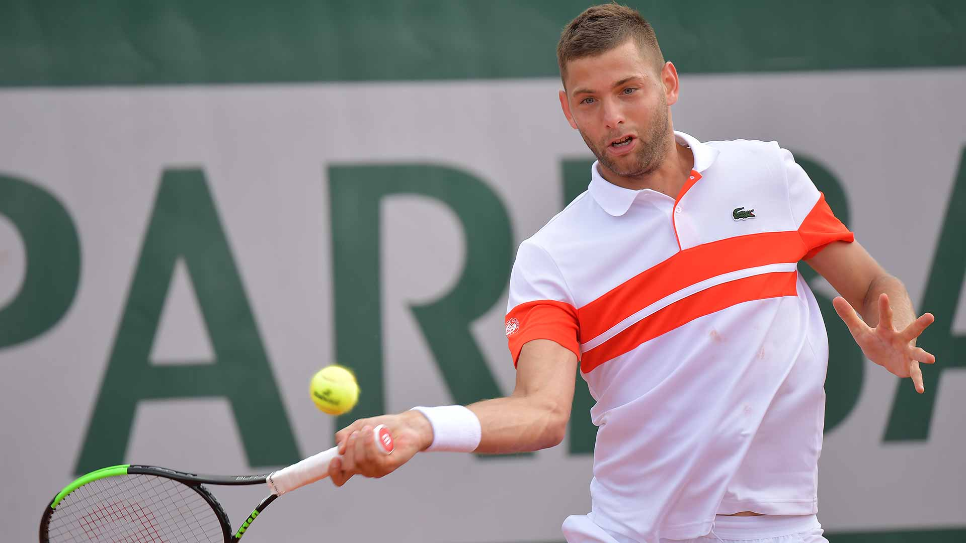 Filip Krajinovic faces Stefanos Tsitsipas at Roland Garros
