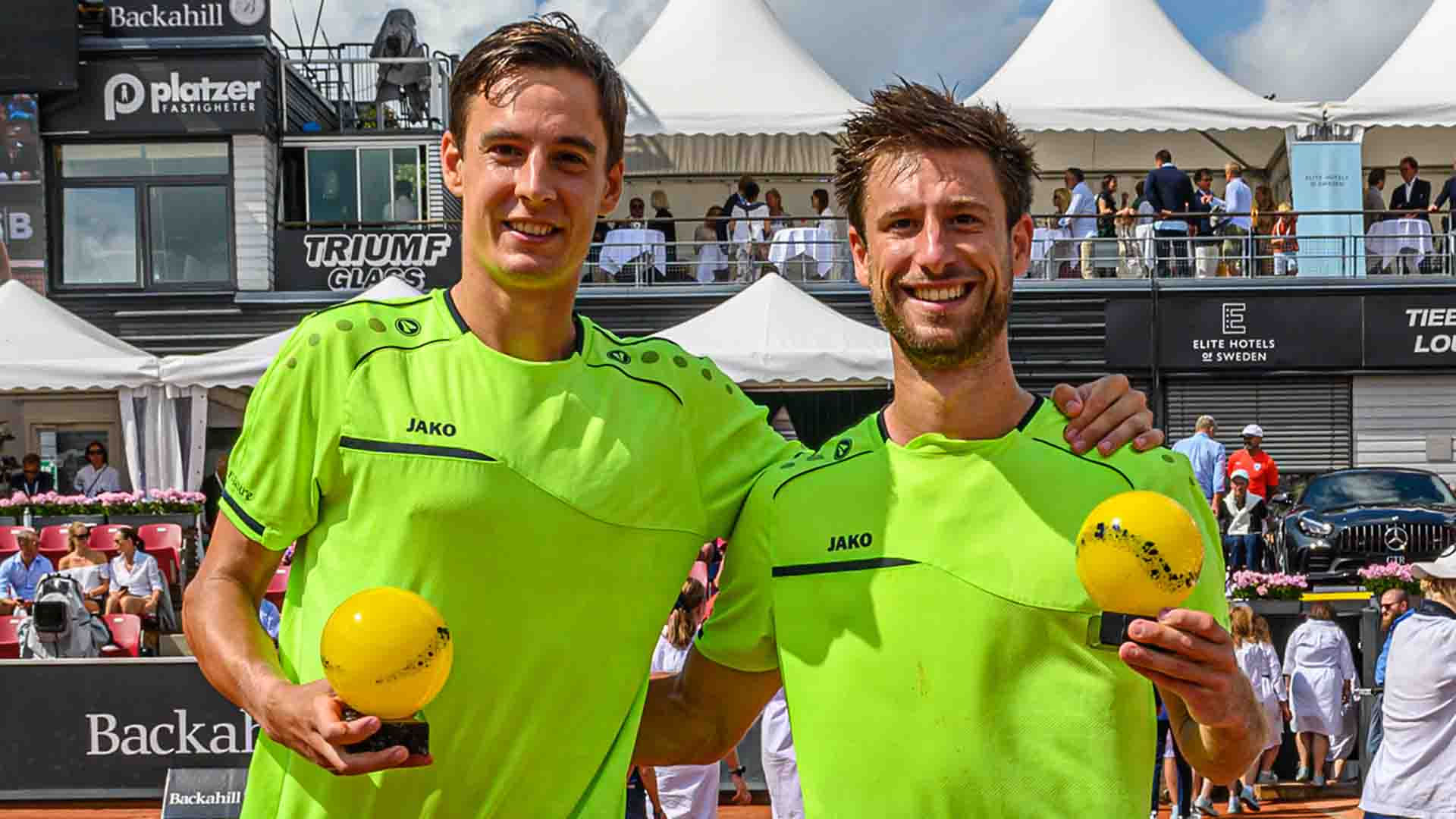Joran Vliegen and Sander Gille earn 250 ATP Doubles Ranking points and split €29,650 in prize money for capturing the Swedish Open title on Sunday.