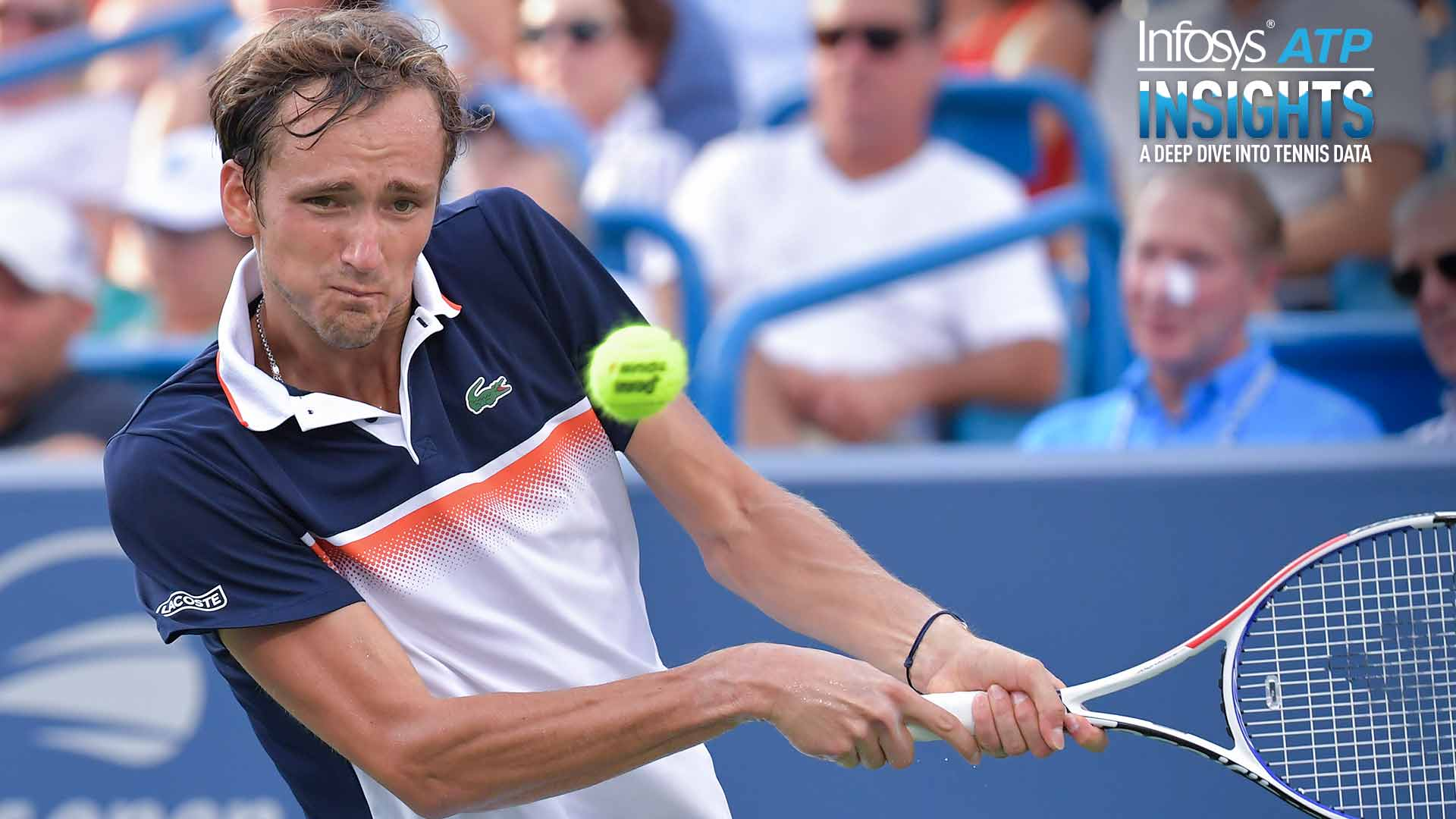 Daniil Medvedev seized his second-serve return opportunities during the Western & Southern Open in Cincinnati.