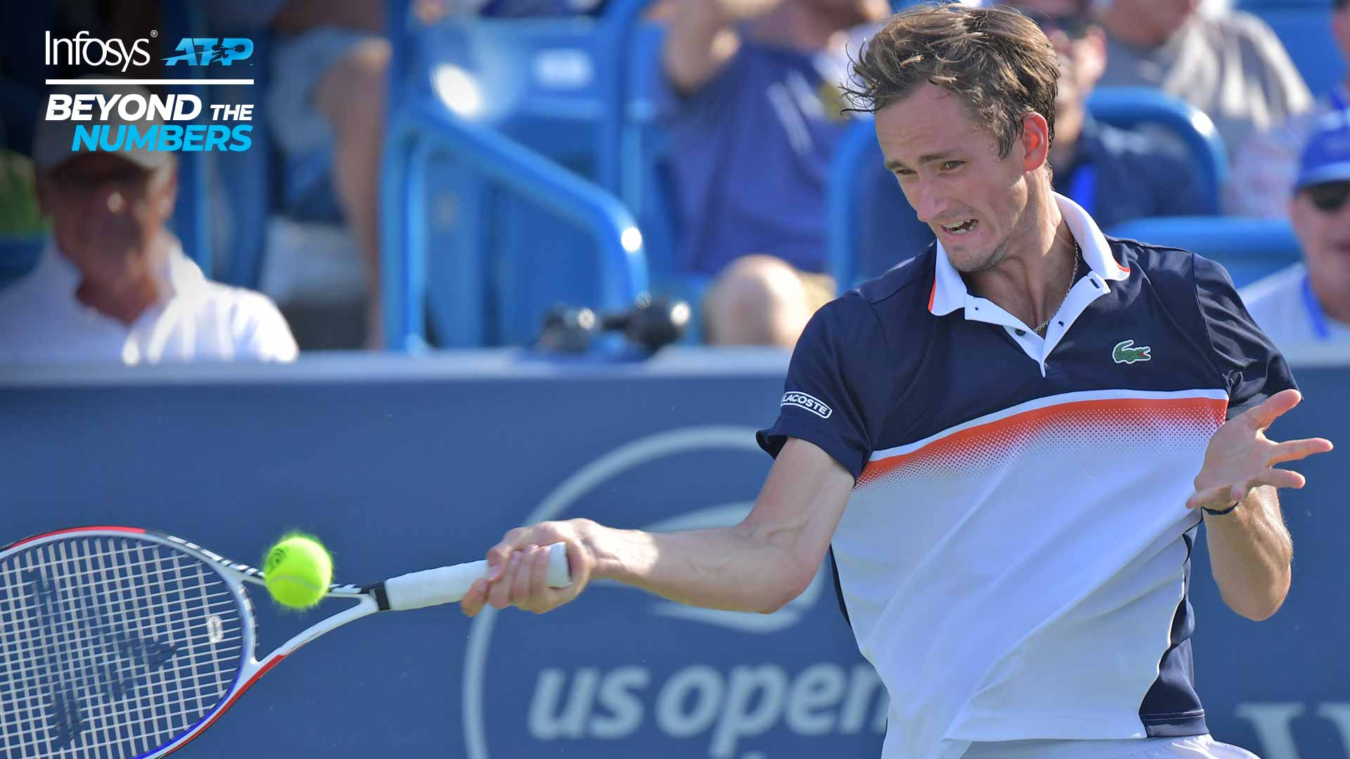 Daniil Medvedev plays at the Western & Southern Open in Cincinnati
