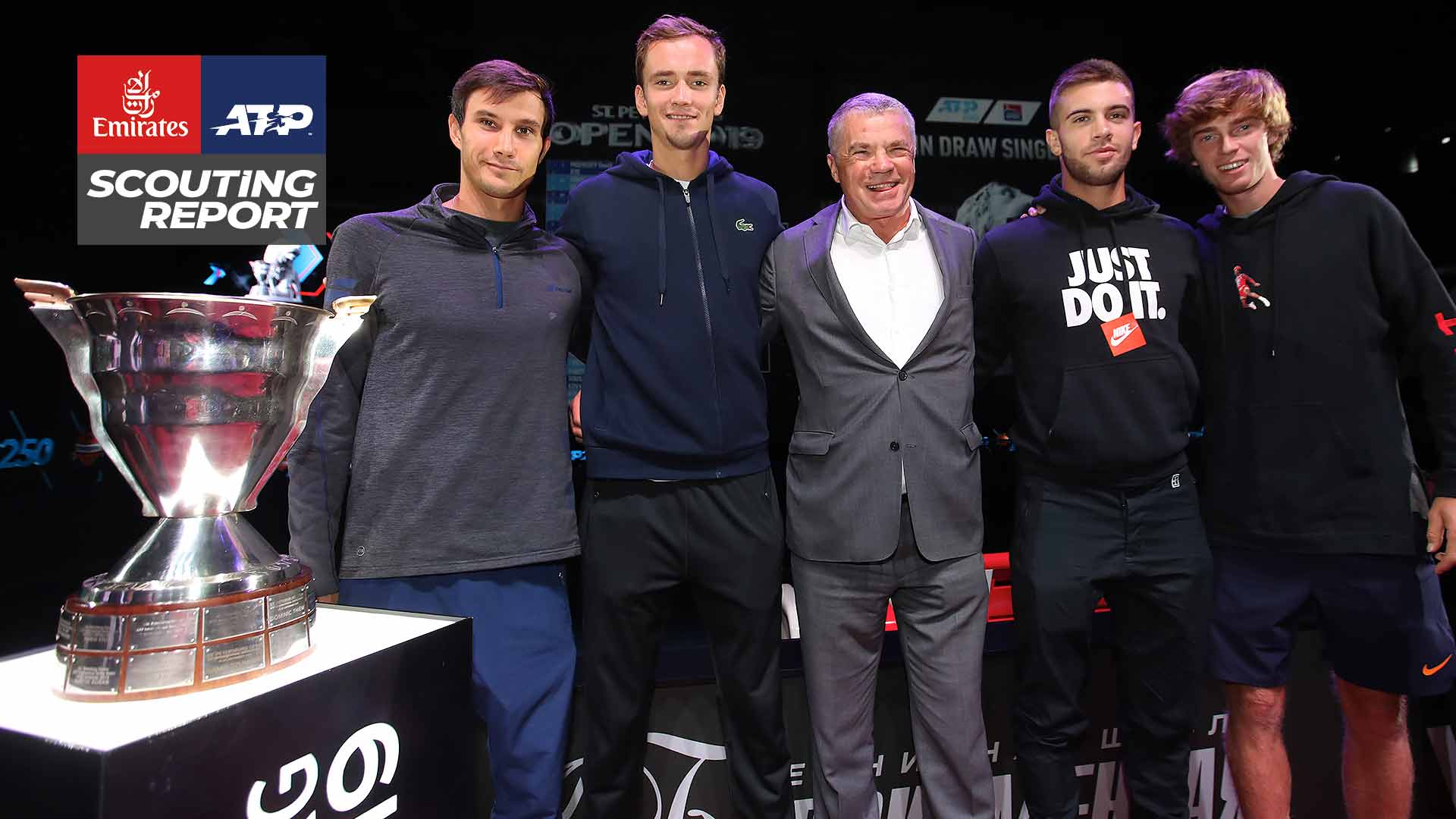 Evgeny Donskoy, Daniil Medvedev, Borna Coric and Andrey Rublev all feature in the St. Petersburg Open draw.
