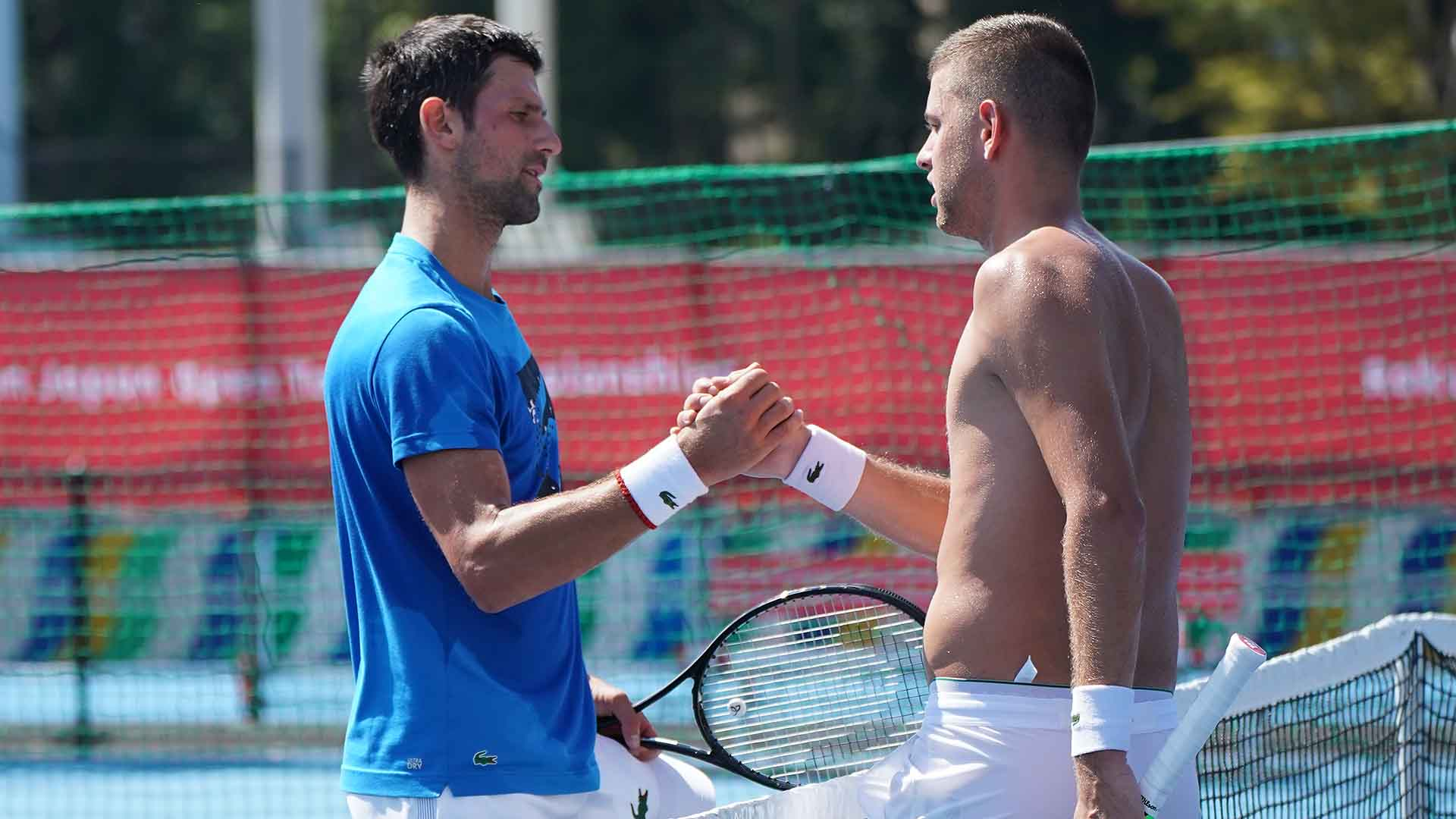 Novak Djokovic will partner Filip Krajinovic in the Rakuten Japan Open Tennis Championships doubles draw.