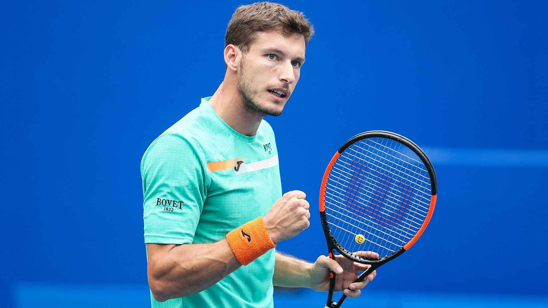 Pablo Carreno Busta improves to 24-17 at tour-level this year.