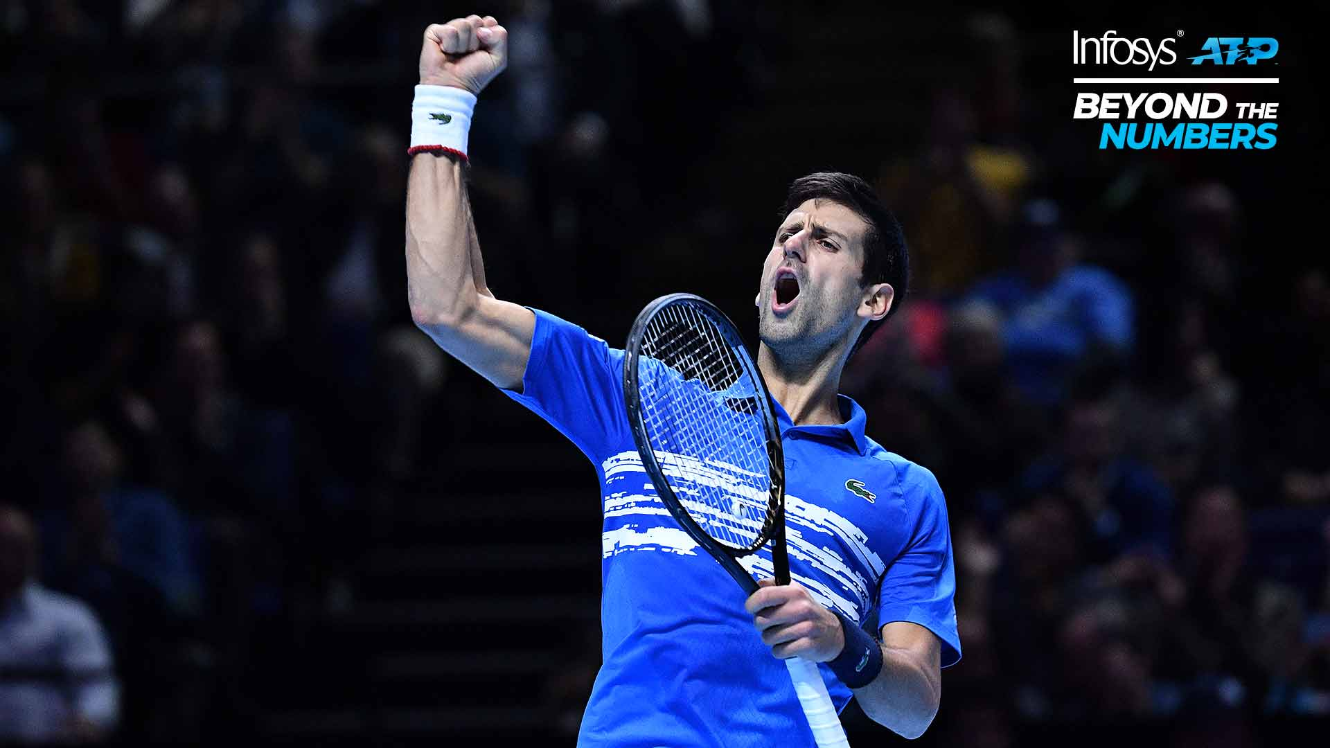 Novak Djokovic doesn't stay down after losing his serve.