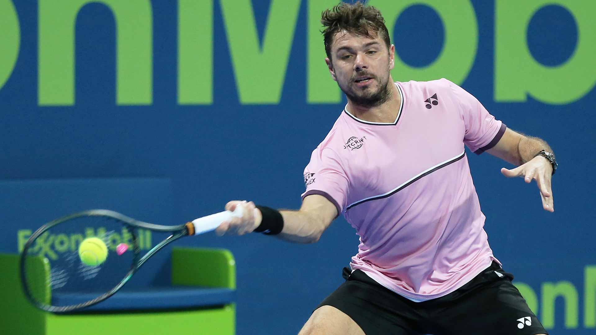 In his first singles match of the 2020 ATP Tour season, Stan Wawrinka defeats Jeremy Chardy at the Qatar ExxonMobil Open in Doha.