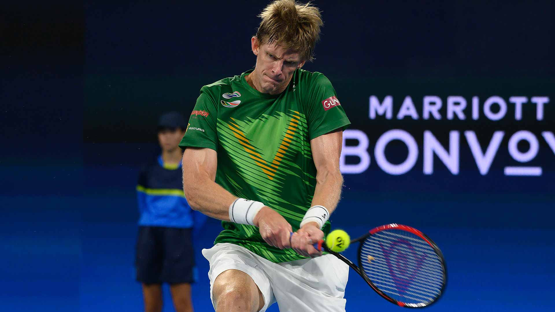 Kevin Anderson beats Benoit Paire on Wednesday in Brisbane.