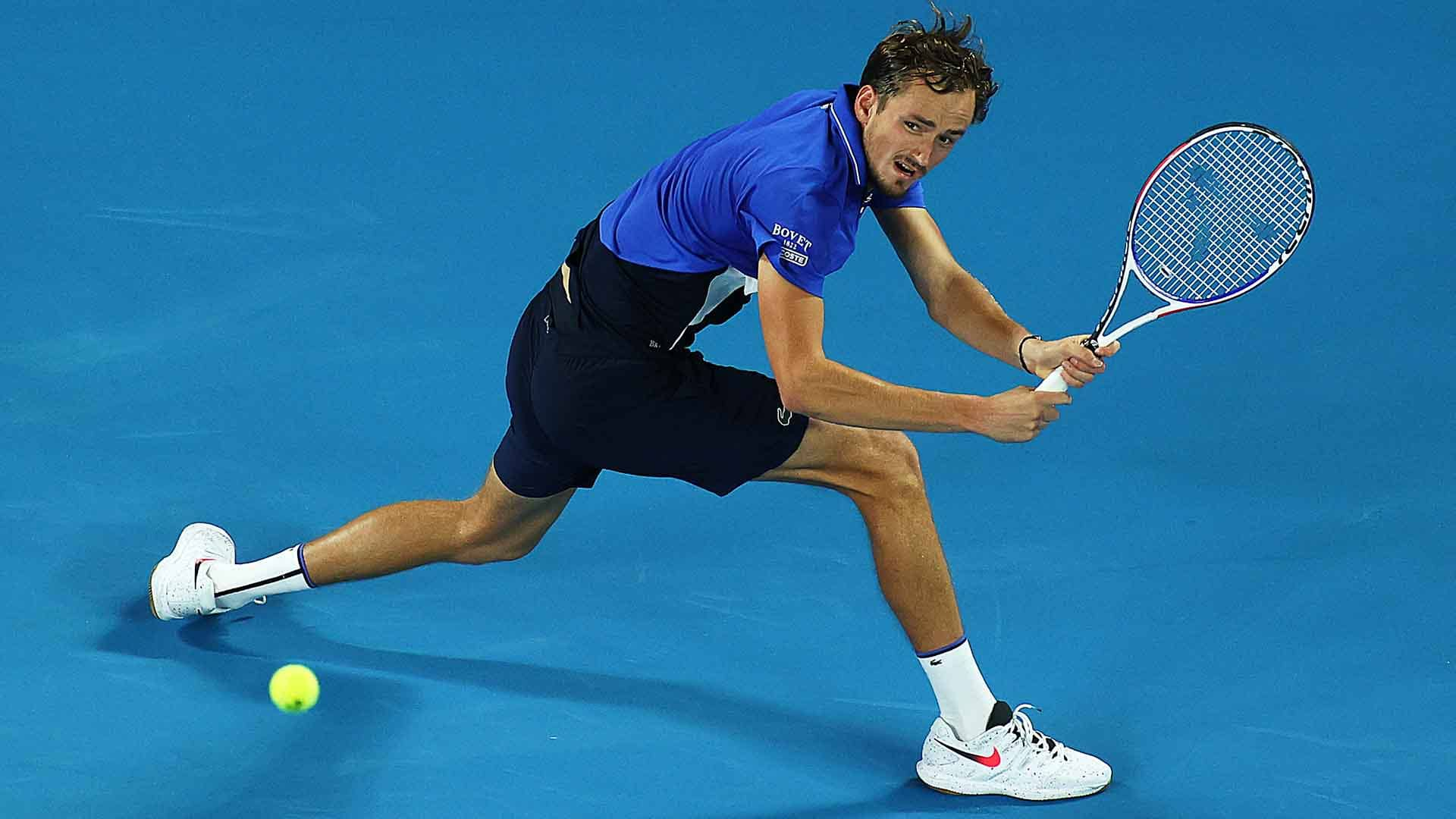 Daniil Medvedev is aiming to lift his first Grand Slam title at the Australian Open.