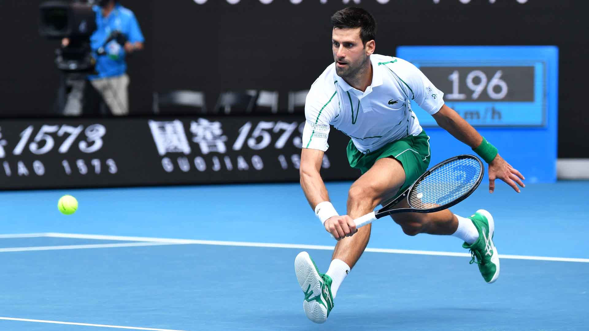 Novak Djokovic is aiming to win a record-extending eighth Australian Open title.