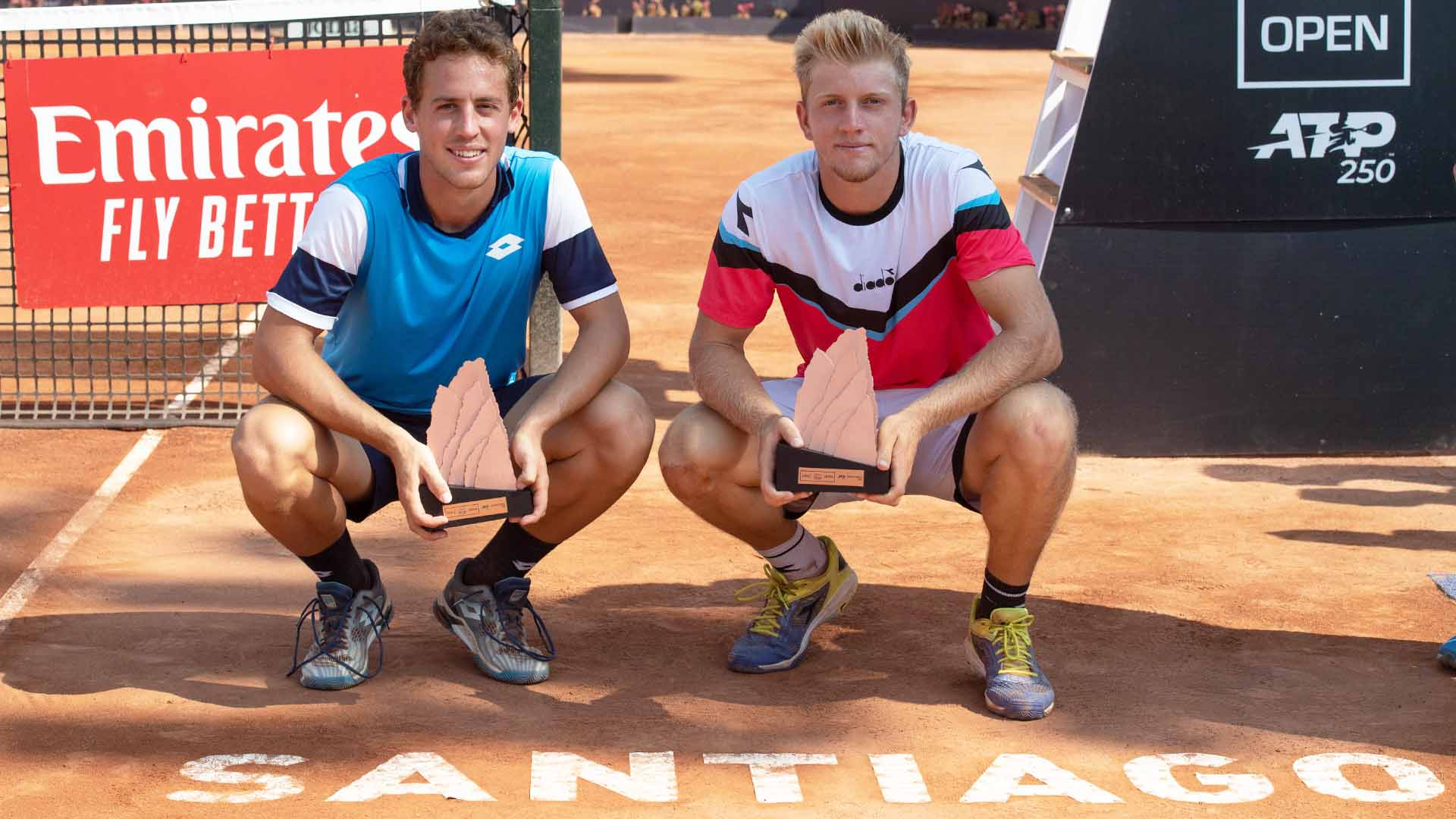 Roberto Carballes Baena and Alejandro Davidovich Fokina were making their team debut this week at the Chile Dove Men+Care Open in Santiago.