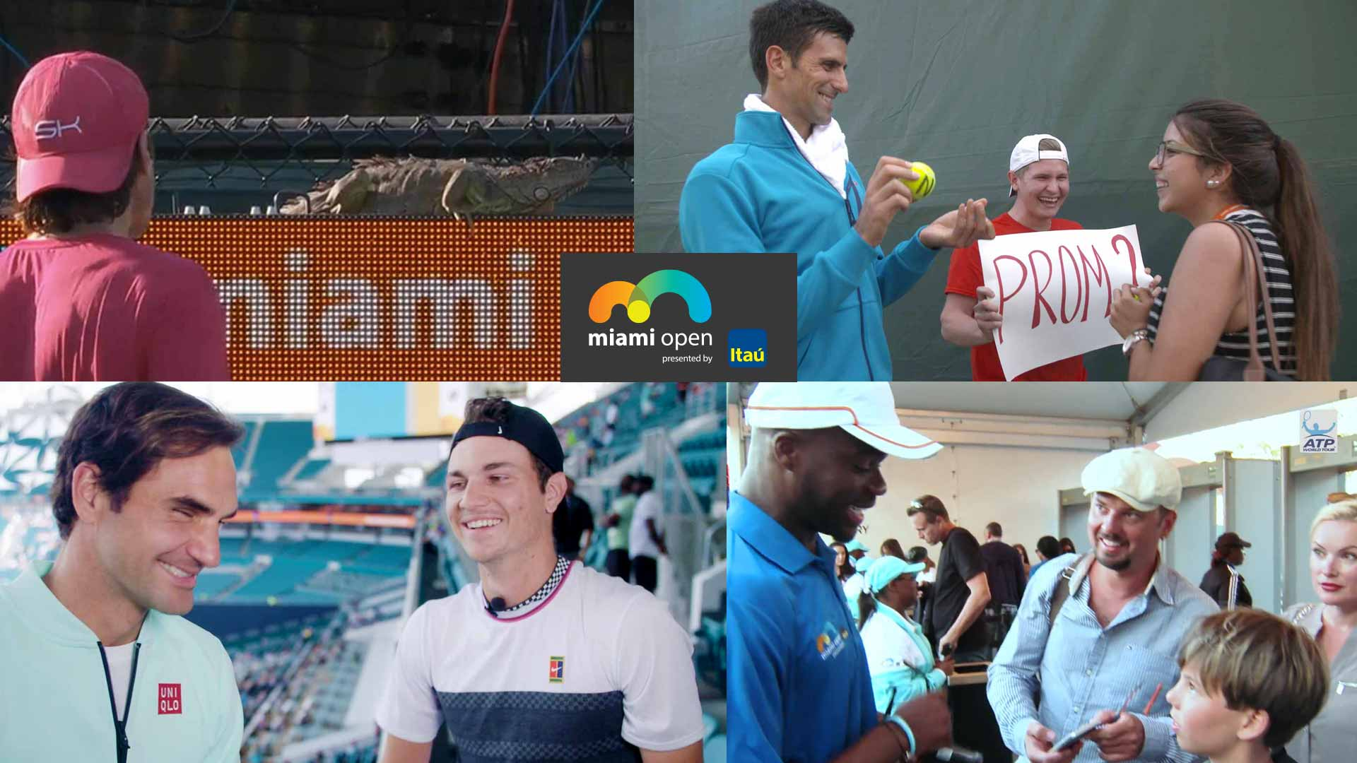 Roger Federer, Novak Djokovic feature in four memorable off-court moments at the Miami Open presented by Itau.