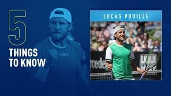 Lucas Pouille owns five ATP Tour titles.